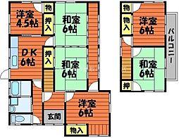 [一戸建] 岡山県倉敷市八王寺町 の賃貸【/】の間取り