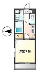 ボヌール新栄[3階]の間取り
