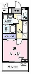コンフォート・テラス(コンフォートテラス)[105号室]の間取り