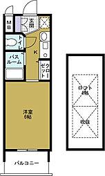 エステムコート難波ウエストサイド大阪ドーム前[10階]の間取り