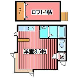 ベストホーム西岡[2階]の間取り