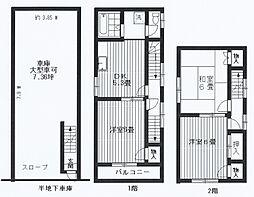 [一戸建] 東京都世田谷区中町5丁目 の賃貸【/】の間取り