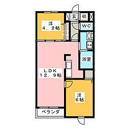 コスモグランデ[2階]の間取り