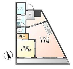 ロンシャン金山[3階]の間取り
