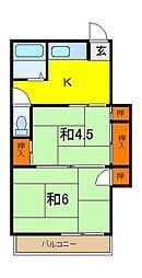 田中アパート[2階]の間取り