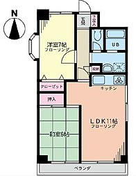 ヴェルジェ新横浜I[2階]の間取り