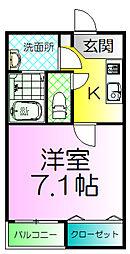 大阪府堺市堺区砂道町1丁の賃貸アパートの間取り