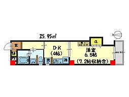 仮)西院平町新築マンション[505号室]の間取り