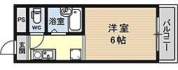 シャローム醍醐[313号室号室]の間取り