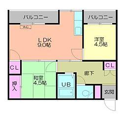 新横浜マンションB棟[5階]の間取り