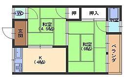 永井ハイツ[2階]の間取り