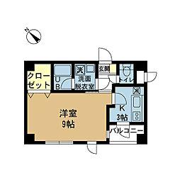 新潟県新潟市中央区月町の賃貸マンションの間取り