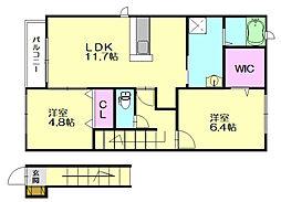 リバティーハウス2[2階]の間取り