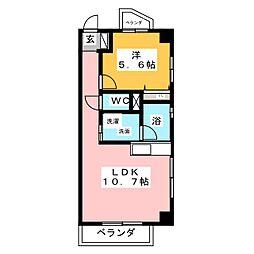 味仙第3マンション[6階]の間取り