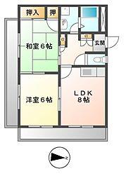 サンライズマンション[2階]の間取り
