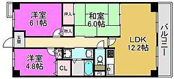 フルール香ヶ丘[1階]の間取り
