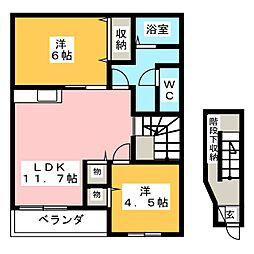 ウインズK2[2階]の間取り