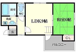 都島MYSハイツ[4階]の間取り