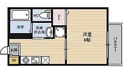 大阪府大阪市淀川区加島3丁目の賃貸アパートの間取り