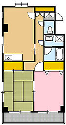 クリスタルハート[3階]の間取り
