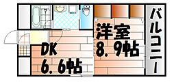 コスモス小倉駅前II[403号室]の間取り
