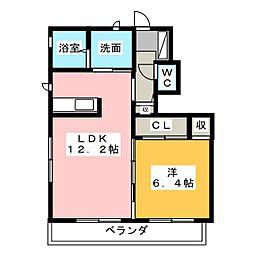 リバーパーク弐番館[1階]の間取り