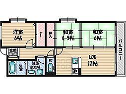 アスティオン江坂[3階]の間取り