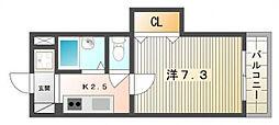 清水マンションIII[2階]の間取り