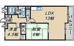 ライオンズマンション曽根長興寺[402号室]の間取り