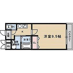 プライムコート南松原[1階]の間取り