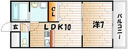 KN21白銀[2階]の間取り