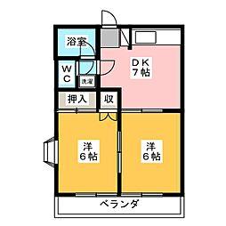 メゾン・ド・石原[2階]の間取り