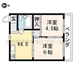 マンション花川[401号室]の間取り
