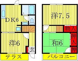 [テラスハウス] 千葉県松戸市五香6丁目 の賃貸【/】の間取り