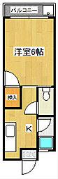 レジデンス210 A[3階]の間取り