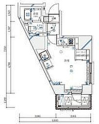 ル・リオン西新宿[12階]の間取り