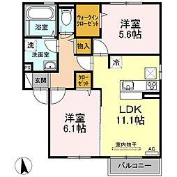 (仮)D-room出雲市大津町A[1階]の間取り