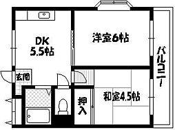 メゾン東栄豊南マンション[2階]の間取り