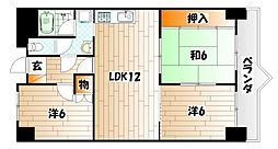フォーラム岡田[5階]の間取り