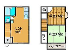 [テラスハウス] 東京都町田市高ヶ坂7丁目 の賃貸【/】の間取り