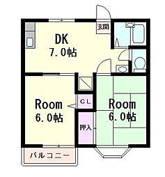 Y'sハウス 1番館[2階]の間取り