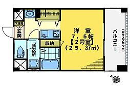 東中野エイトワンマンション[602号室]の間取り