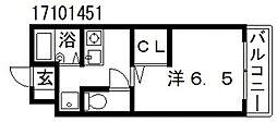 大阪府大阪市東住吉区公園南矢田3丁目の賃貸アパートの間取り