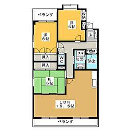 ロイヤル香久山[5階]の間取り