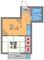 CASA戸越公園[203号室]の間取り