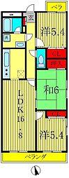 ライオンズマンション三郷第3[4階]の間取り