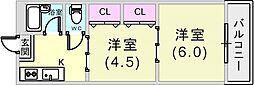 シティライフ43タカハ[4階]の間取り