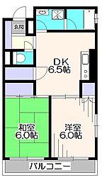 埼玉県新座市野寺2丁目の賃貸マンションの間取り