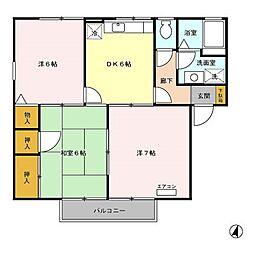 新潟県新潟市秋葉区程島の賃貸アパートの間取り