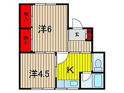 草柳荘[2階]の間取り